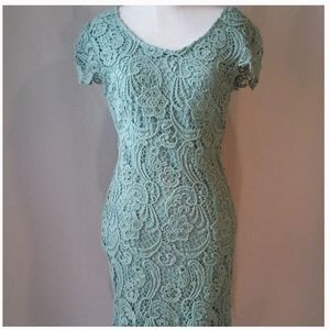 Crochet Dress - Mint Green